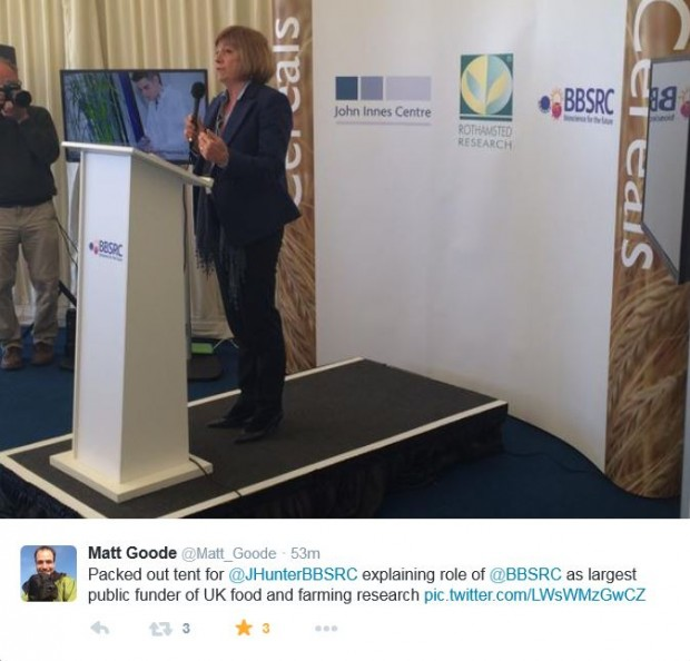Jackie Hunter speaks at Cereals 2015