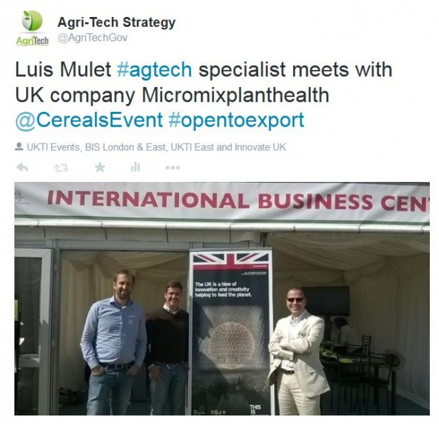 UKTI specialist Luis Mulet discusses exports with Micromixplanthealth