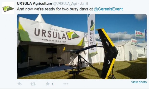 Ursula Agriculture were ready to discuss their UAS technology at Cereals 2015