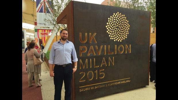 Jon at the UK Pavilion in Milan