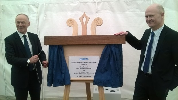 The official opening - Sir Richard Leese (left) and Mark Peacock (right)