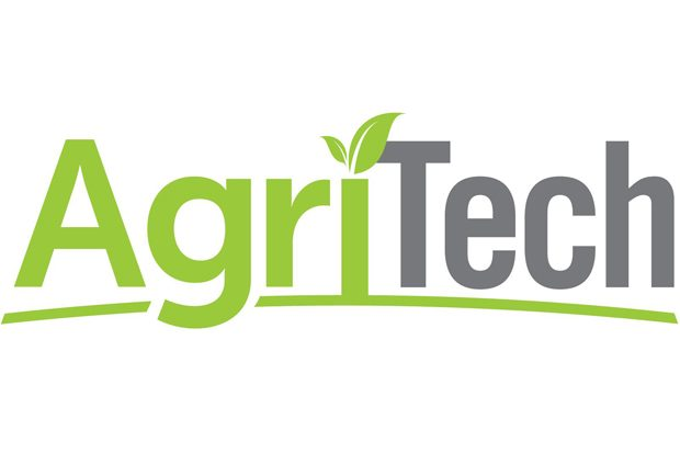 AgriTech logo, featuring the words AgriTech with a leaf on the letter i